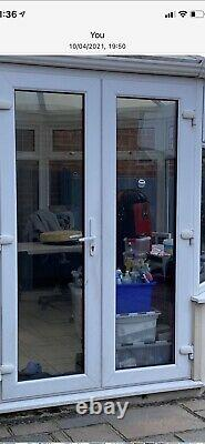 White Upvc French Doors And Frame With Toughened Glass