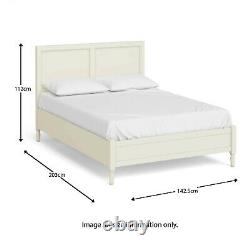 Wooden Double Bed Frame 4ft 6 Cream Painted French Bedroom Furniture Mulsanne