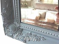 X Large GREY Shabby Chic Ornate Decorative Wall Mirror Choice of frame colour