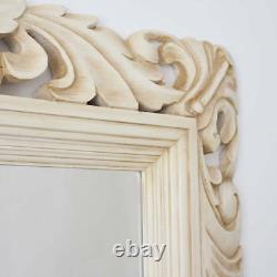 XL Cream Ivory Wooden Carved Rococo Mirror Choice of Frame Colour NEW